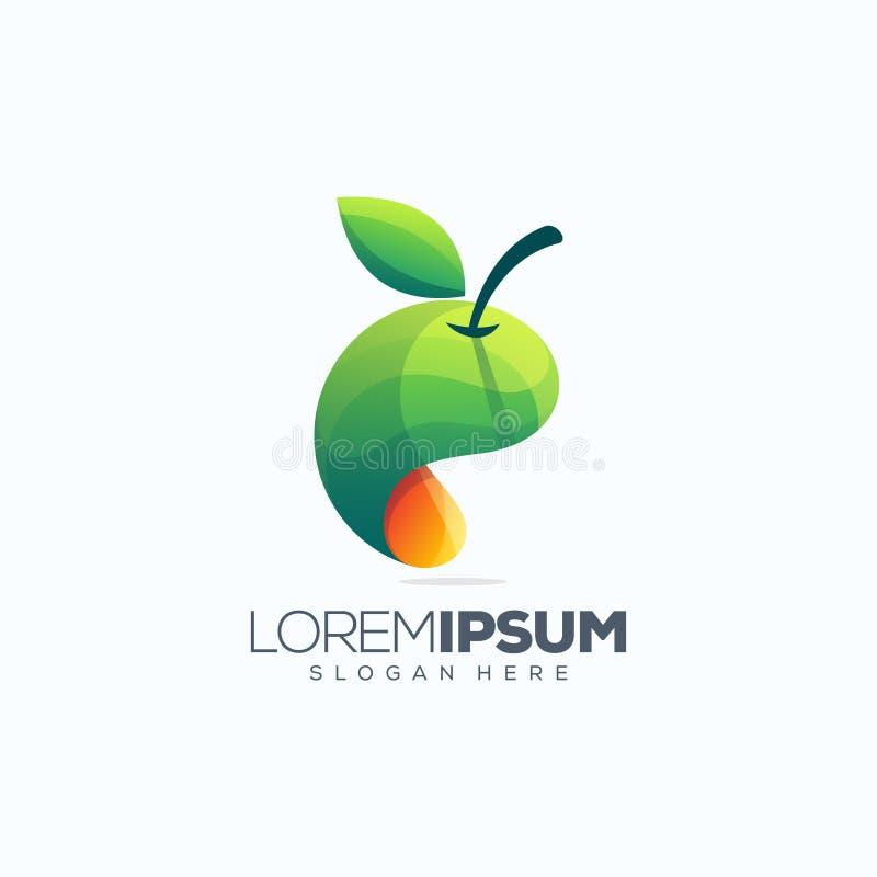 Ejemplo del vector del diseño del logotipo de la fruta stock de ilustración