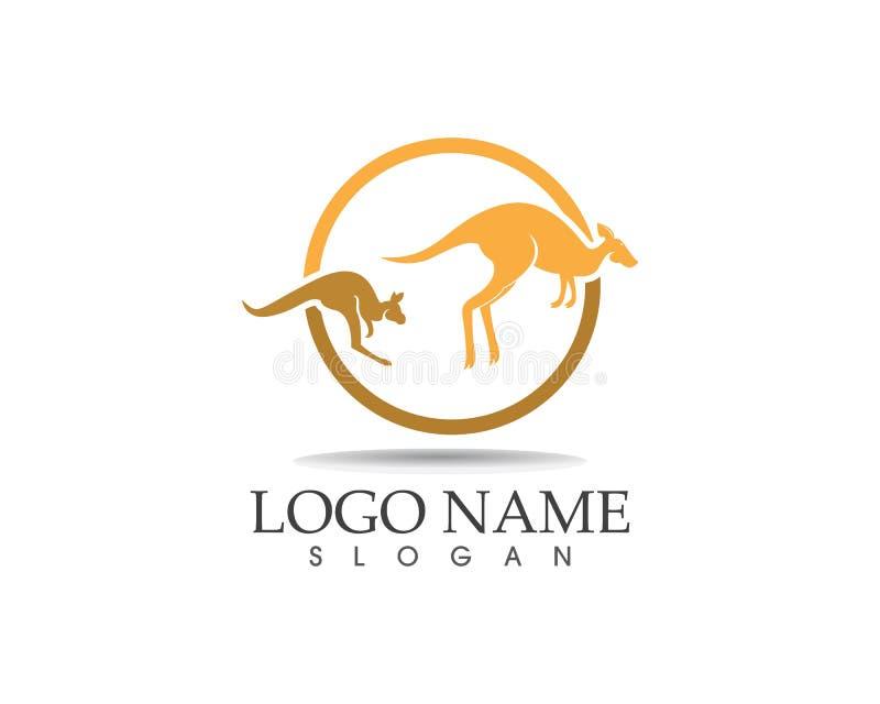 Ejemplo del vector del diseño del logotipo del icono del canguro ilustración del vector