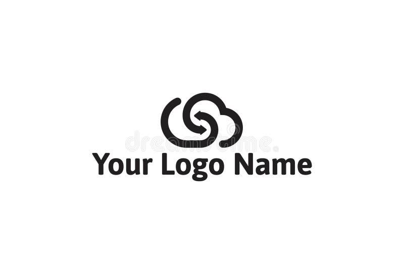 Ejemplo del vector del diseño negro del logotipo del color libre illustration