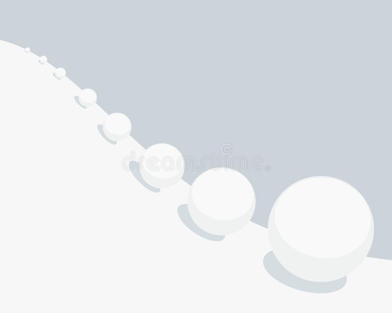 Ejemplo del vector del efecto de la bola de nieve libre illustration
