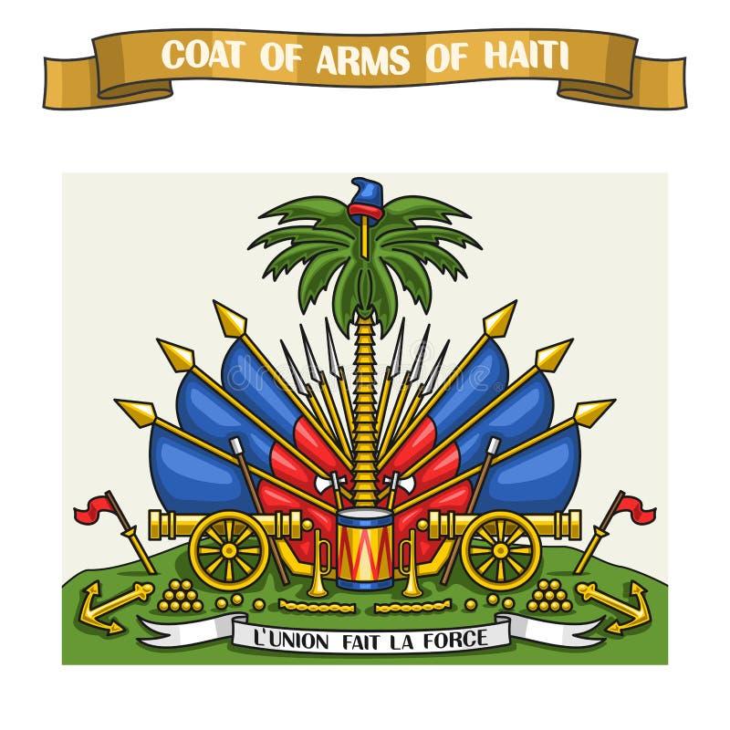 Ejemplo del vector en el escudo de armas del haitiano del tema ilustración del vector