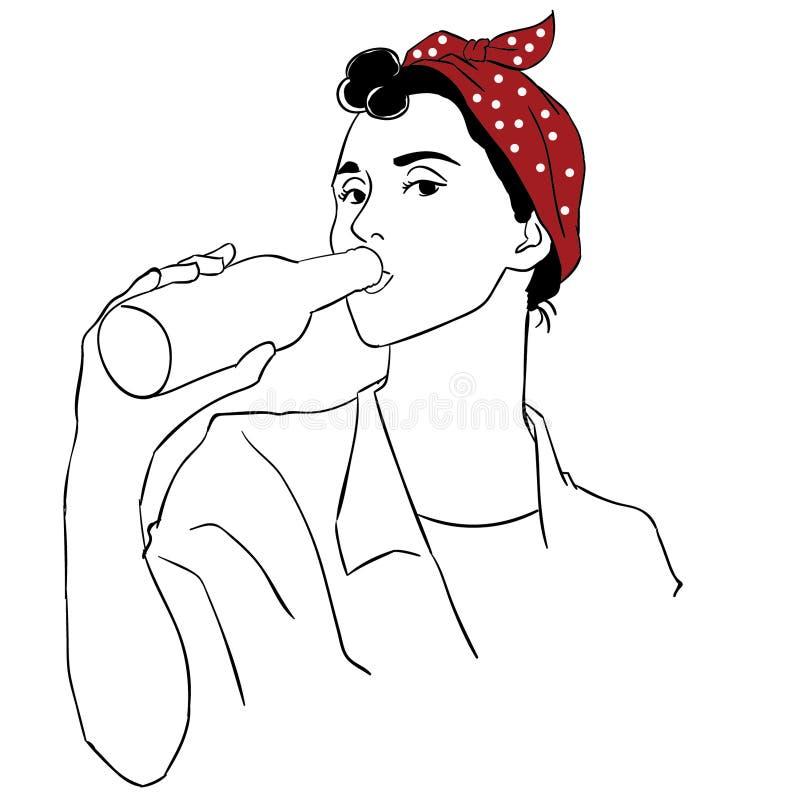 Ejemplo del vector EPS de la cerveza por los crafteroks libre illustration