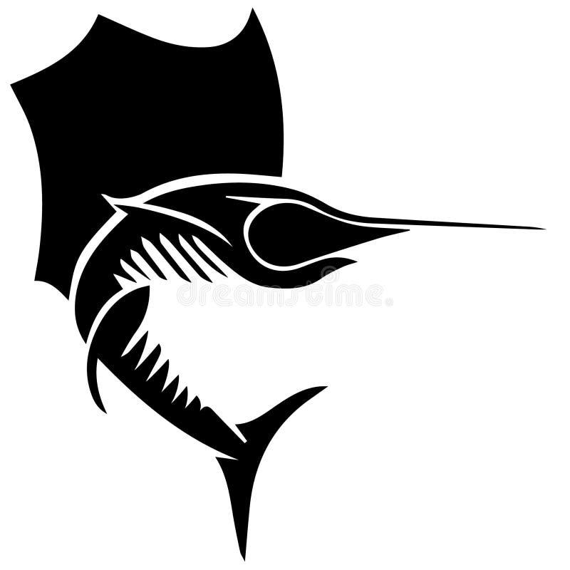 Ejemplo del vector EPS de los peces espadas y del pez volador por los crafteroks libre illustration