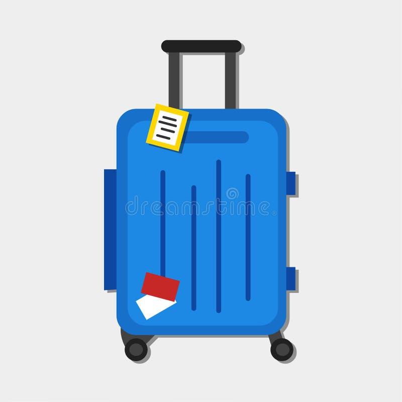 Ejemplo del vector del equipaje del viaje en el fondo blanco ilustración del vector