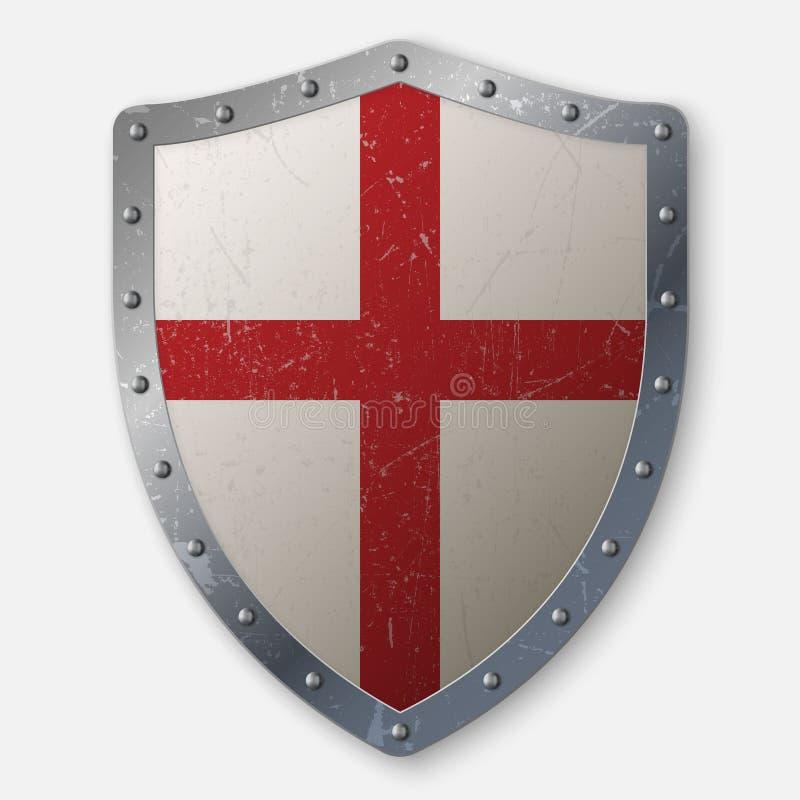 Ejemplo del vector del escudo de los cruzados libre illustration