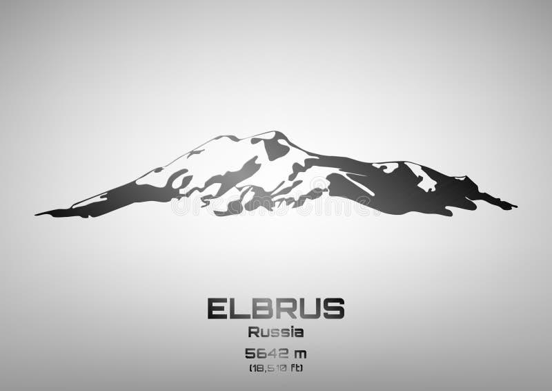 Ejemplo del vector del esquema del Mt de acero elbrus libre illustration