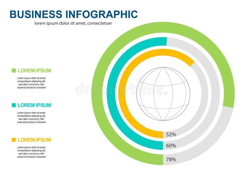 Ejemplo del vector del estilo de la papiroflexia del c?rculo de Infographics del negocio puede ser utilizado para la disposici?n  ilustración del vector