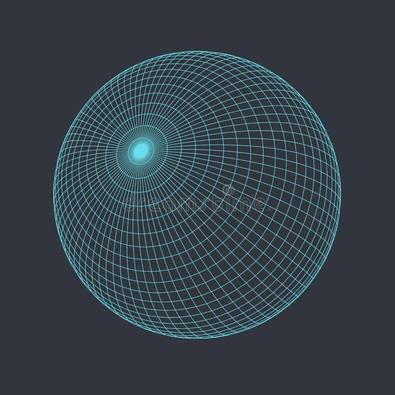 ejemplo del vector del globo 3D libre illustration