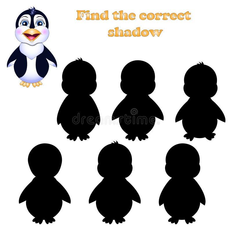 Ejemplo del vector del hallazgo la sombra derecha de un pingüino stock de ilustración