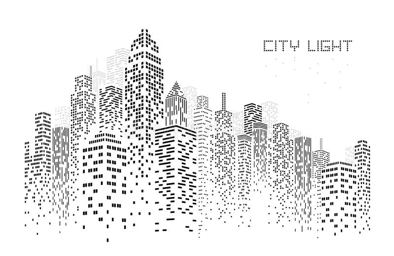 Ejemplo del vector del horizonte de la ciudad ilustración del vector