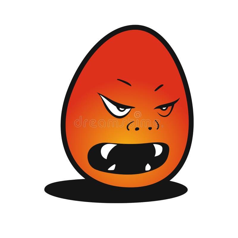 Ejemplo del vector del huevo del diablo fotografía de archivo libre de regalías