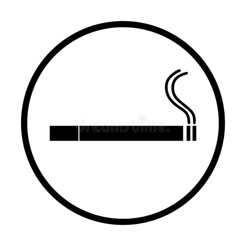 Ejemplo del vector del icono del cigarrillo del humo stock de ilustración