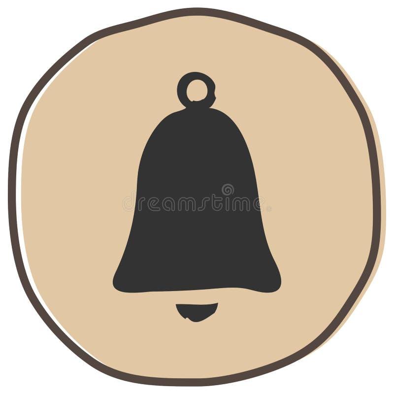 Ejemplo del vector del icono de Bell libre illustration