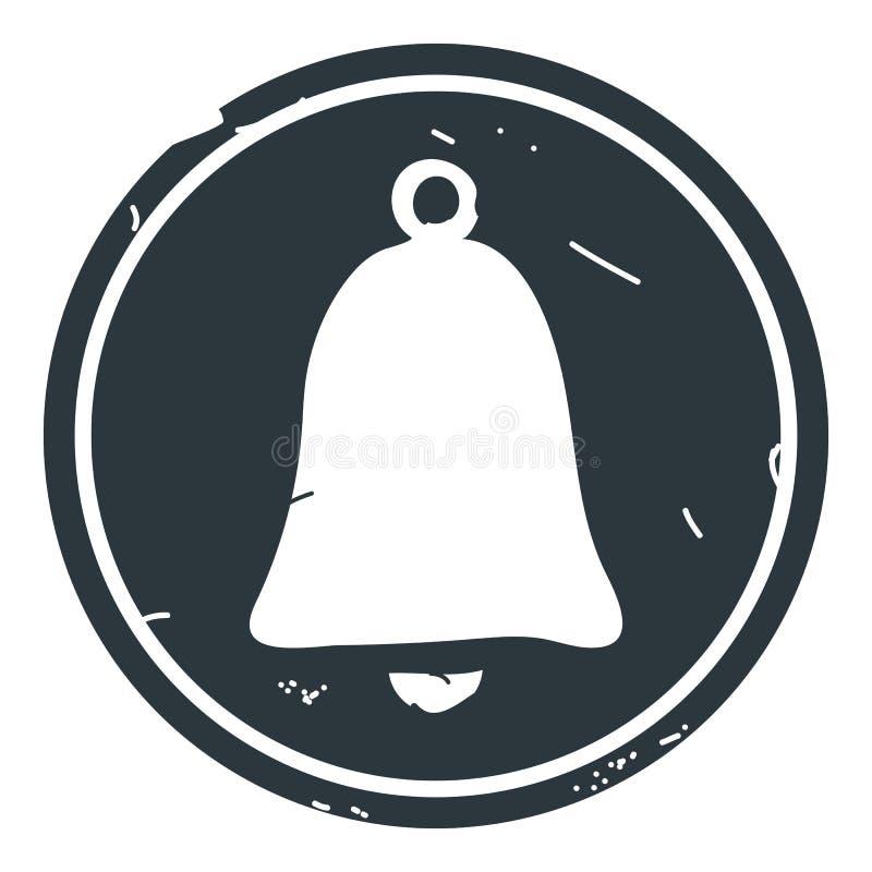 Ejemplo del vector del icono de Bell en fondo azul ilustración del vector
