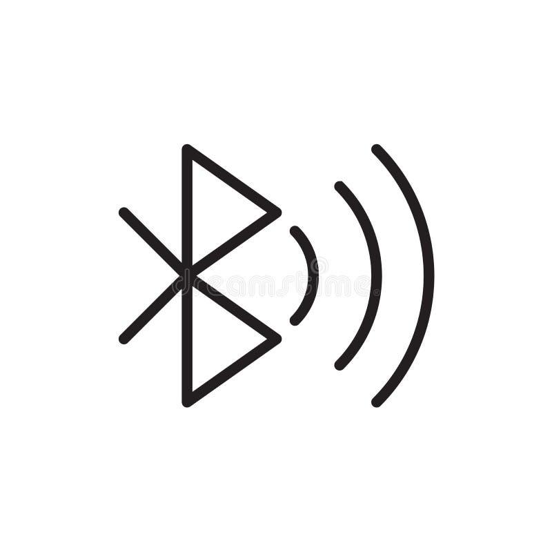 Ejemplo del vector del icono de Bluetooth, EPS10 ilustración del vector