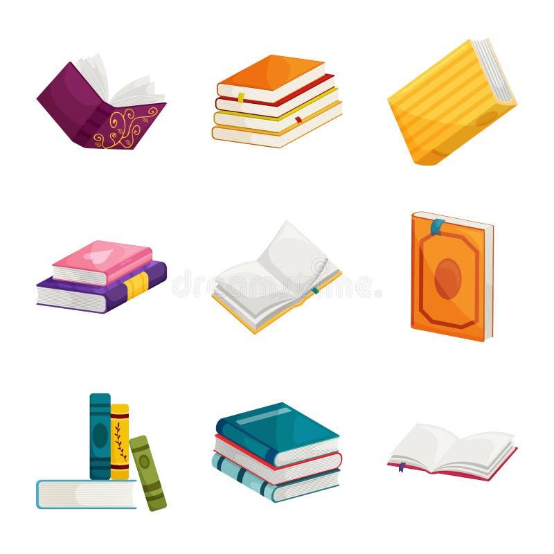 Ejemplo del vector del icono de la biblioteca y de la librer?a Colecci?n de icono del vector de la biblioteca y de la literatura  libre illustration