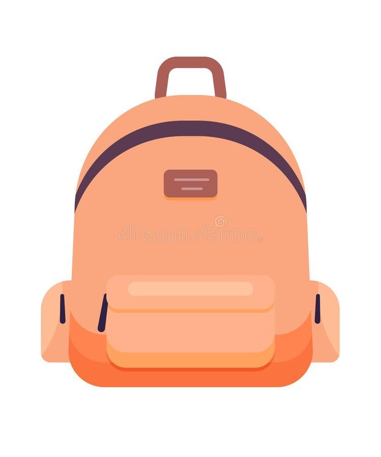 Ejemplo del vector del icono de la mochila stock de ilustración