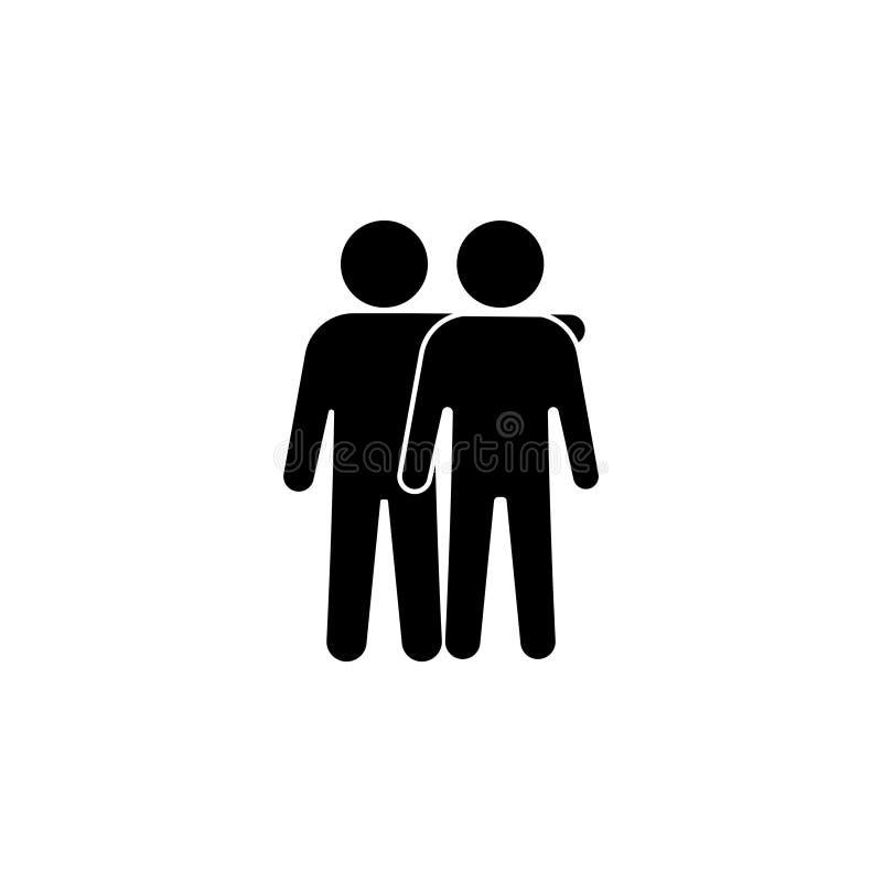 Ejemplo del vector del icono de los amigos Muestra de la amistad ` del mejor amigo del ` ilustración del vector
