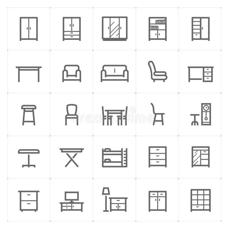 """Ejemplo del vector del icono de los muebles del †determinado de Mini Icon """" stock de ilustración"""