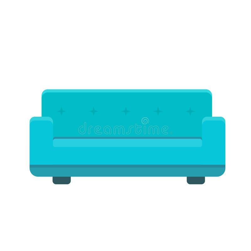 Ejemplo del vector del icono del diván libre illustration