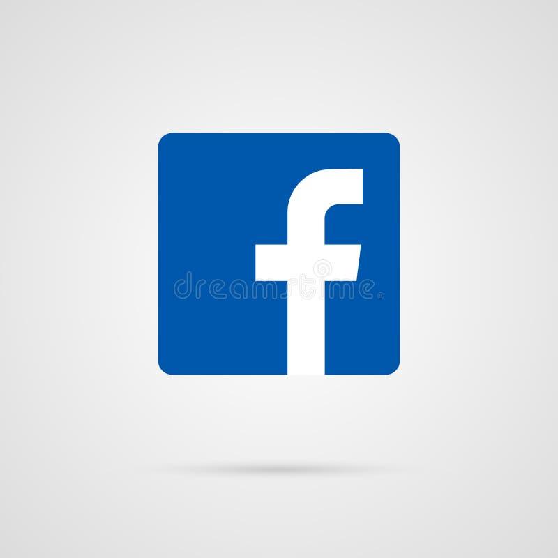 ejemplo del vector del icono del facebook Icono social del vector de los medios de Facebook stock de ilustración