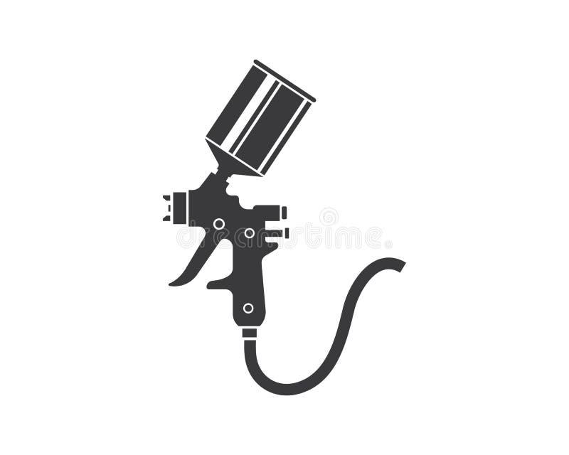 ejemplo del vector del icono del logotipo de la pintura del arma de espray ilustración del vector