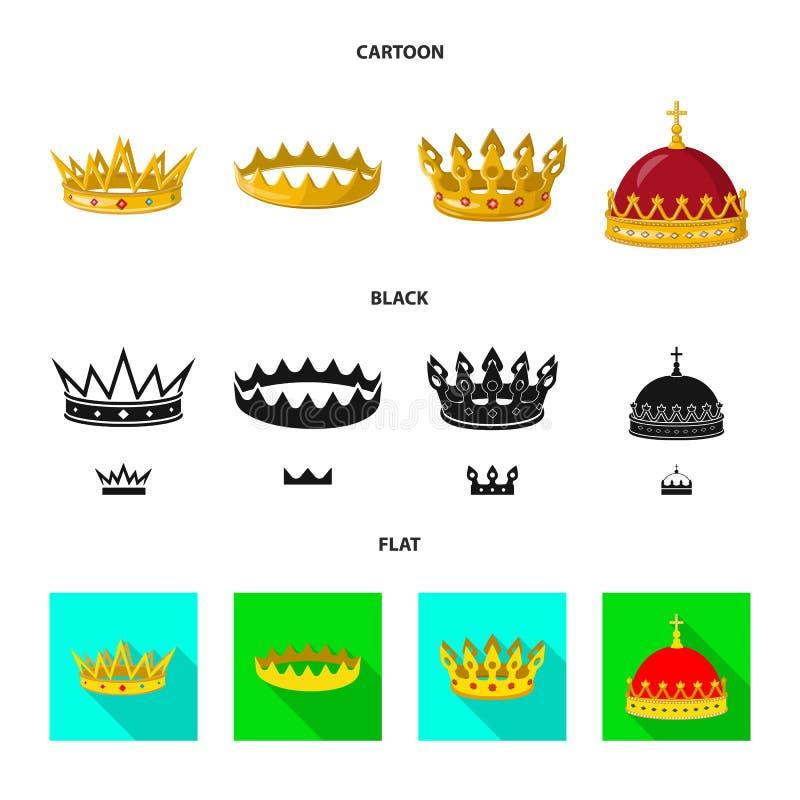 Ejemplo del vector del icono medieval y de la nobleza Colecci?n de ejemplo com?n medieval y de la monarqu?a del vector ilustración del vector