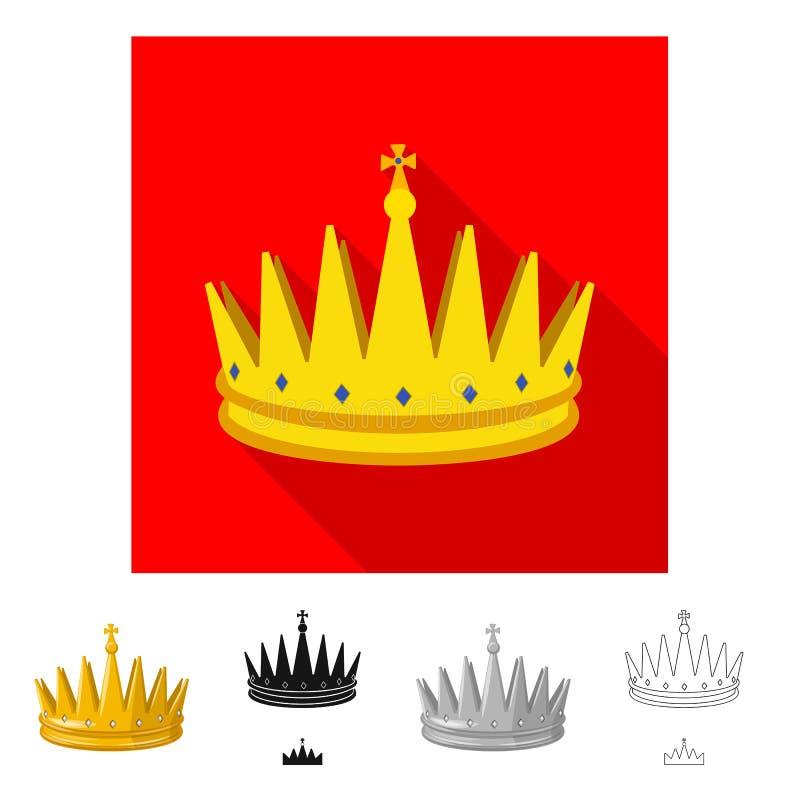 Ejemplo del vector del icono medieval y de la nobleza Fije del ejemplo com?n medieval y de la monarqu?a del vector libre illustration