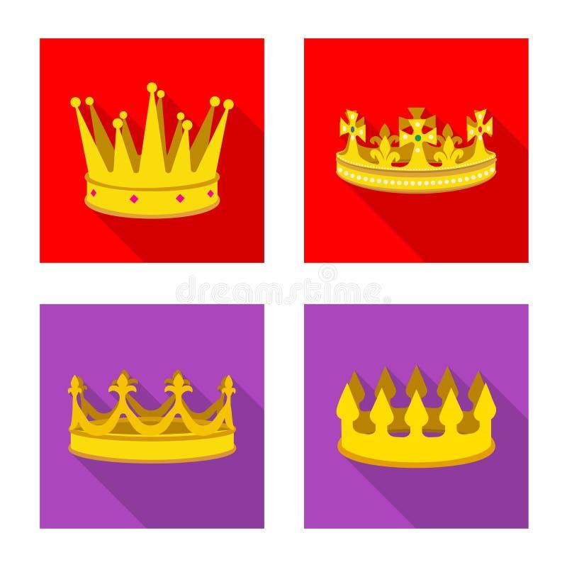 Ejemplo del vector del icono medieval y de la nobleza Fije del ejemplo com?n medieval y de la monarqu?a del vector ilustración del vector