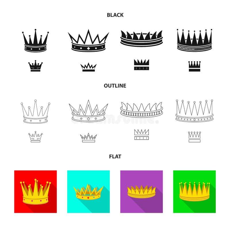 Ejemplo del vector del icono medieval y de la nobleza Fije del icono medieval y de la monarqu?a del vector para la acci?n libre illustration