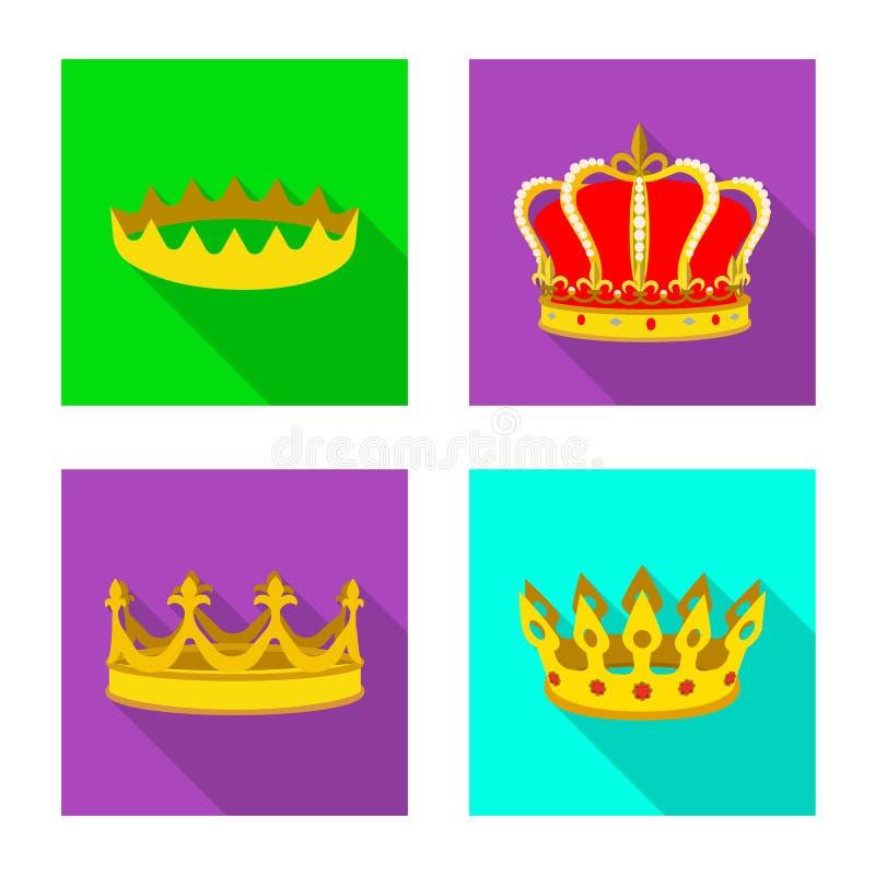 Ejemplo del vector del icono medieval y de la nobleza Fije del s?mbolo com?n medieval y de la monarqu?a para la web libre illustration