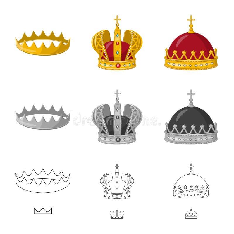Ejemplo del vector del icono medieval y de la nobleza Fije del s?mbolo com?n medieval y de la monarqu?a para la web ilustración del vector