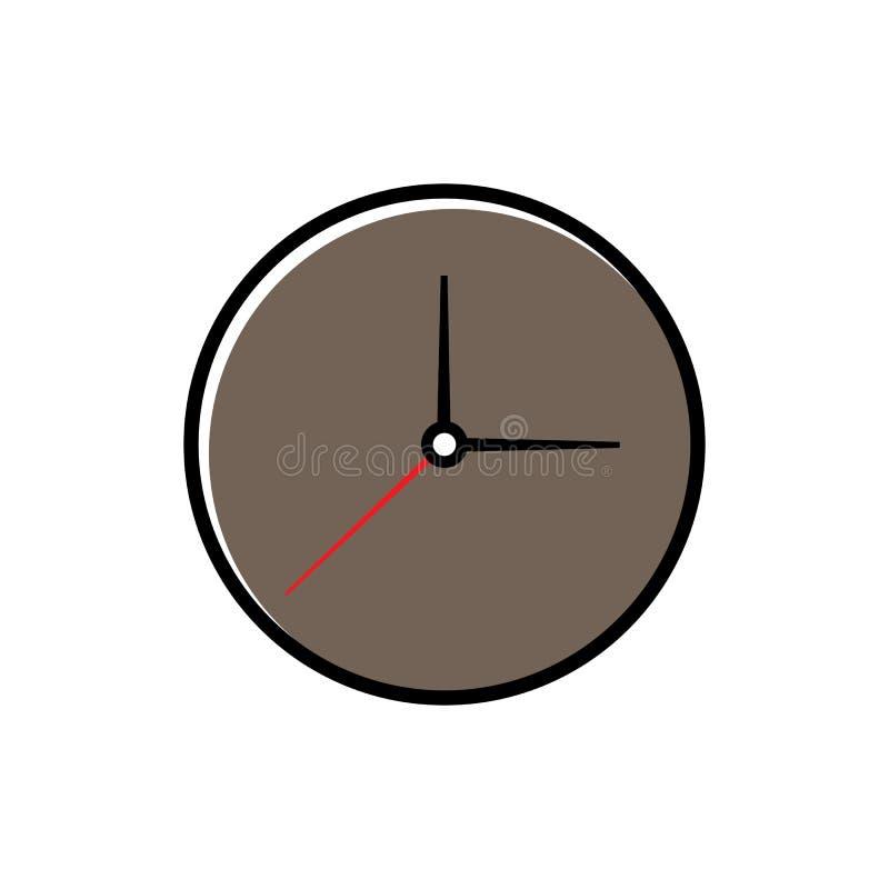 Ejemplo del vector del icono del reloj stock de ilustración