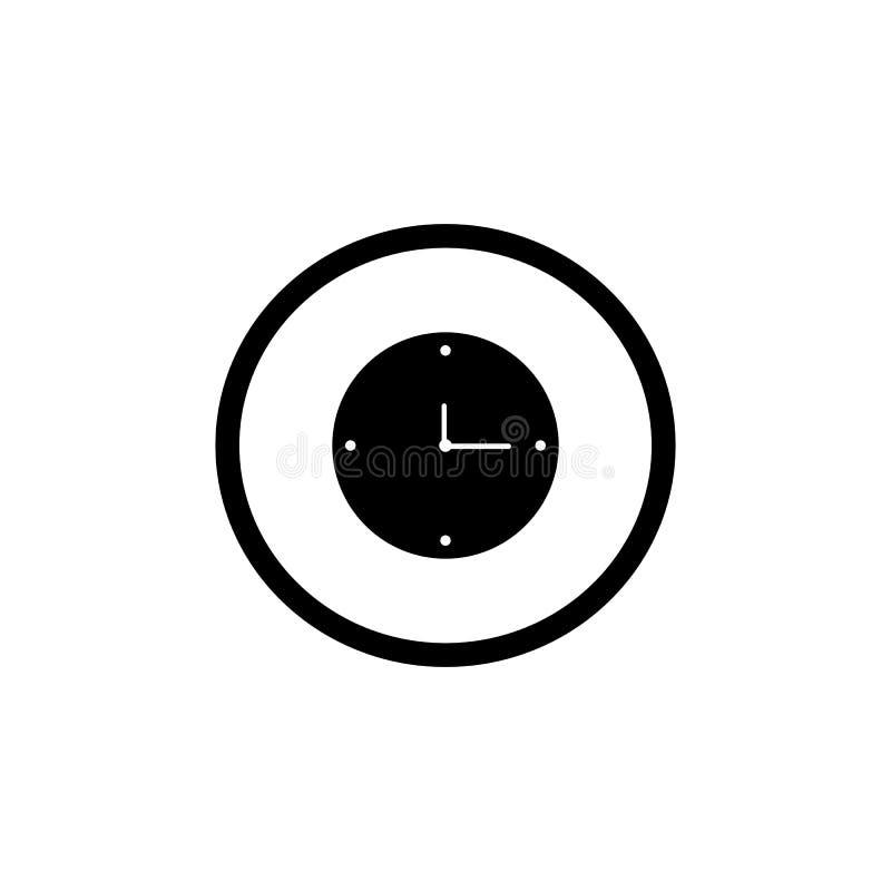 Ejemplo del vector del icono del reloj en el fondo blanco stock de ilustración