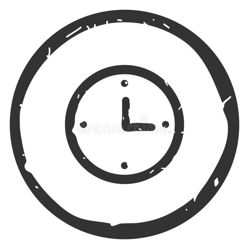 Ejemplo del vector del icono del reloj en el fondo blanco libre illustration