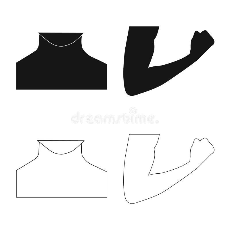 Ejemplo del vector del icono del ser humano y de la parte Colección de símbolo común del ser humano y de la mujer para el web stock de ilustración