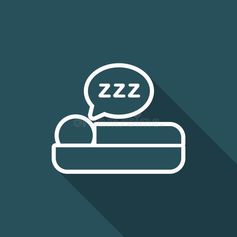 Ejemplo del vector del icono del sueño ilustración del vector