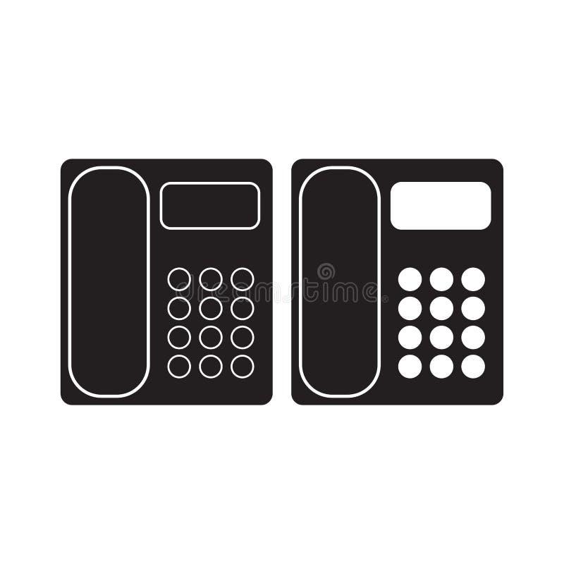 Ejemplo del vector del icono del tel fono de la oficina for Telefono de la oficina