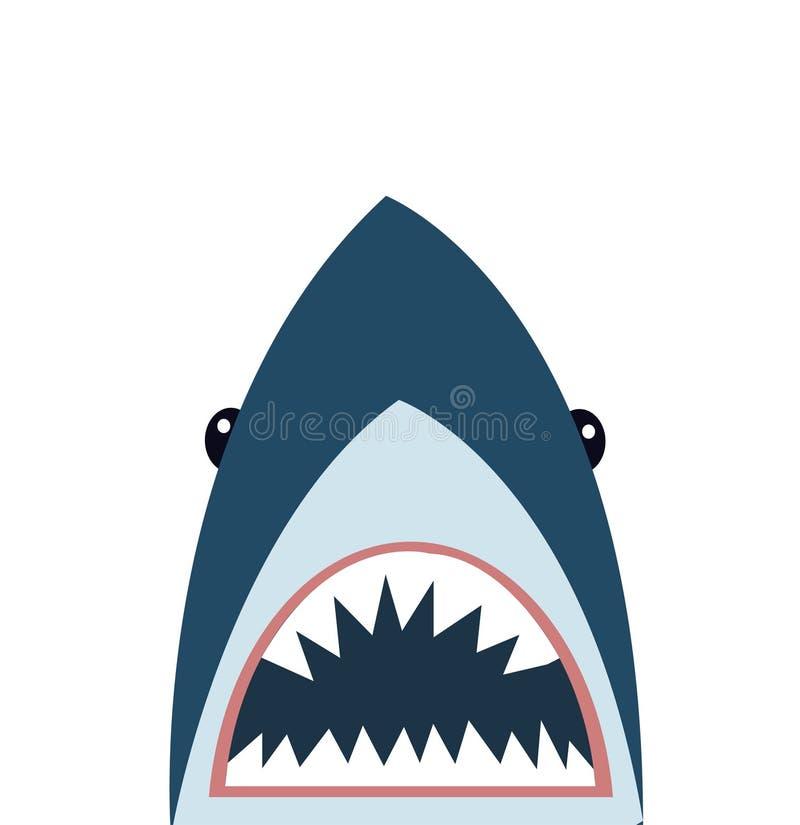 Ejemplo del vector del icono del tibur?n stock de ilustración