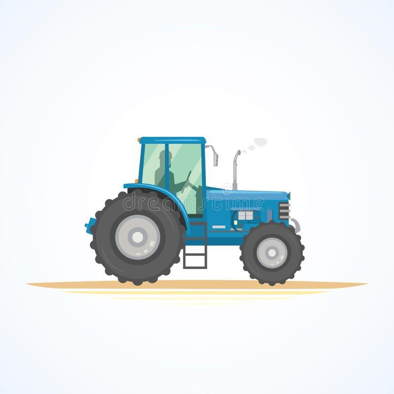 Ejemplo del vector del icono del tractor de granja Maquinaria agrícola pesada para el trabajo en el terreno ilustración del vector