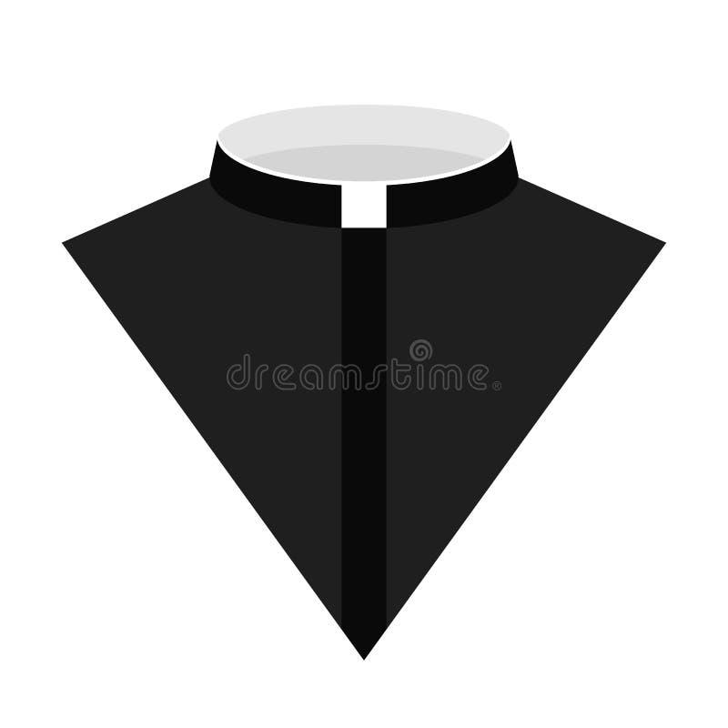 Ejemplo del vector del icono del vestido del sacerdote católico ilustración del vector