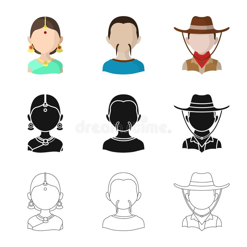 Ejemplo del vector del imitador y de la muestra residente Fije del icono del vector del imitador y de la cultura para la acci?n libre illustration