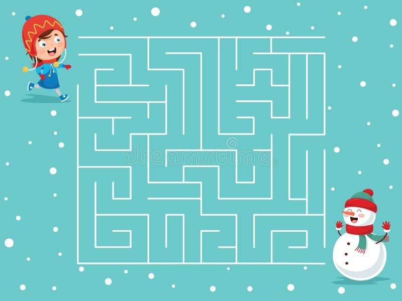 Ejemplo del vector del laberinto del invierno libre illustration
