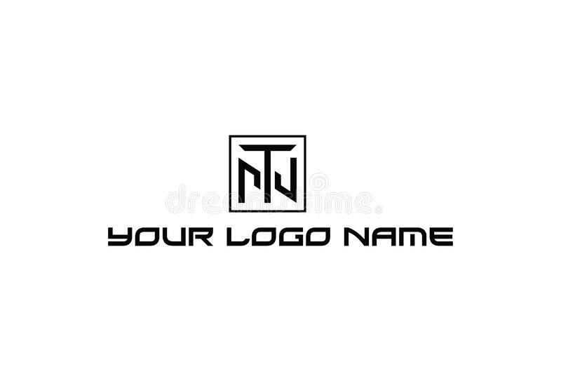 Ejemplo del vector del logotipo del alfabeto T stock de ilustración