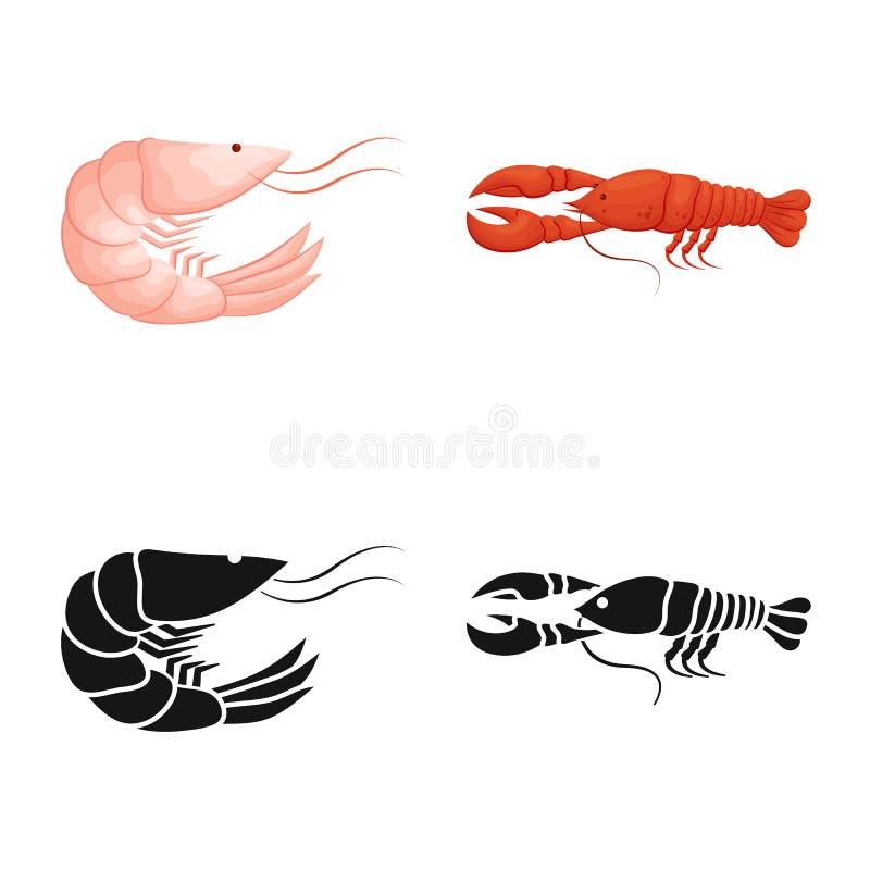 Ejemplo del vector del logotipo del aperitivo y del oc?ano Fije del s?mbolo com?n del aperitivo y de la delicadeza para la web libre illustration