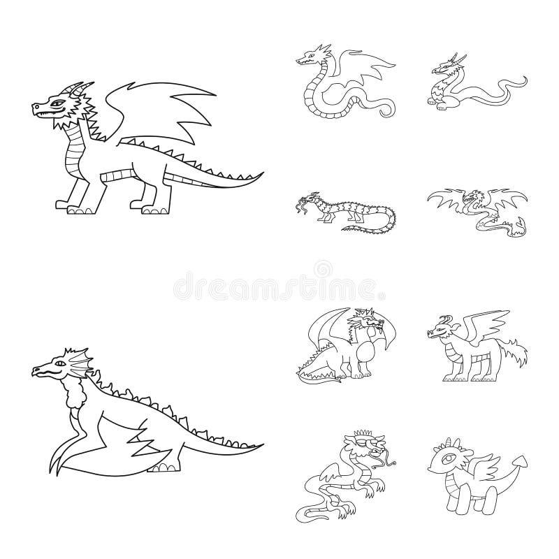 Ejemplo del vector del logotipo asiático y medieval Colección de ejemplo común asiático y mítico del vector libre illustration
