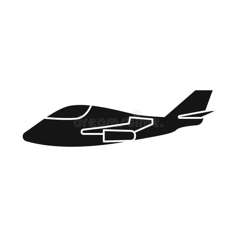 Ejemplo del vector del logotipo del avión y del espacio Fije del avión y del ejemplo común aerotransportado del vector ilustración del vector