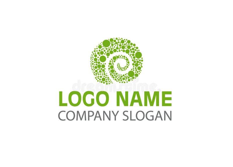 Ejemplo del vector - logotipo creativo del camaleón, aislado en el fondo blanco stock de ilustración