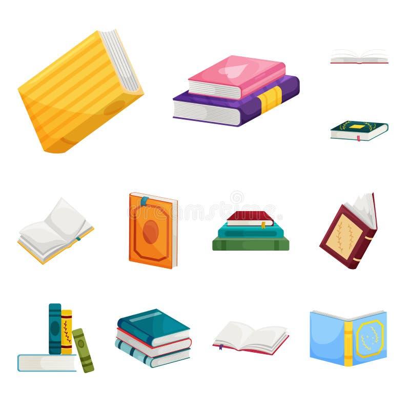 Ejemplo del vector del logotipo de la biblioteca y de la librería Colección de icono del vector de la biblioteca y de la literatu stock de ilustración