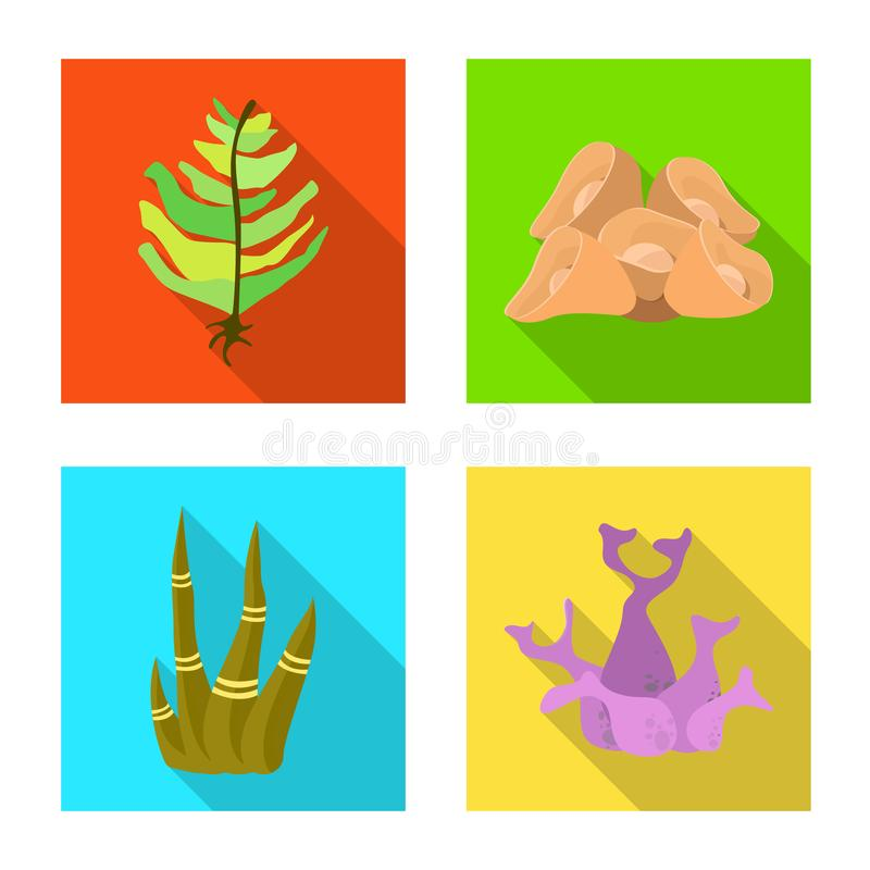 Ejemplo del vector del logotipo de la biodiversidad y de la naturaleza Colección de biodiversidad y de ejemplo común del vector d libre illustration